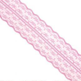 Кружево 4,5 см, цвет: розовый