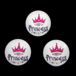 Кабошон стеклянный Princess 25 мм