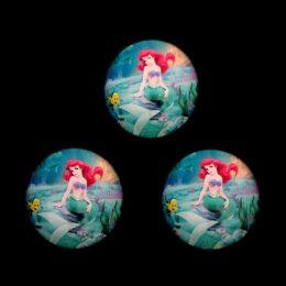 Кабошон стеклянный Русалочка 25 мм