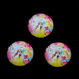 Кабошон стеклянный Принцессы 25 мм