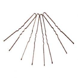 Шпильки металлические, 7 см, коричневые