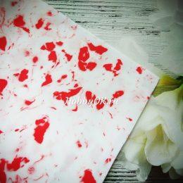 Фоамиран EVA зефирный 1мм цвет мрамор-красный