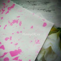 Фоамиран EVA зефирный 1мм мраморный (розовый)