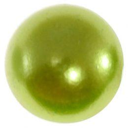 Полубусины перламутр 12 мм зеленые