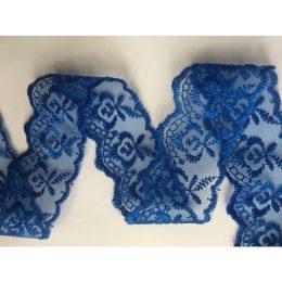 Кружево 4 см, цвет: синий