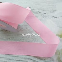 Репсовая лента 40 мм, цвет: розовый