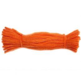 Синельная проволока 30 см, цвет: оранжевый