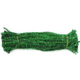 Синельная проволока 30 см, цвет: зелёный