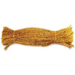 Синельная проволока 30 см, цвет: золото