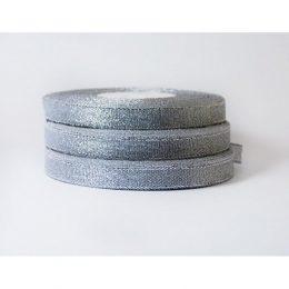 Лента парча серебро 12 мм