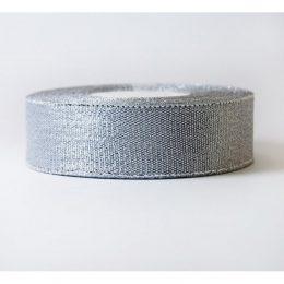 Лента парча серебро 25 мм
