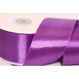 Атласная лента 50 мм, цвет: фиолетовый