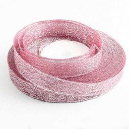 Лента парча 6 мм цвет: розовый