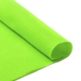 Фетр жёсткий 1 мм, цвет: зелёный - салатовый
