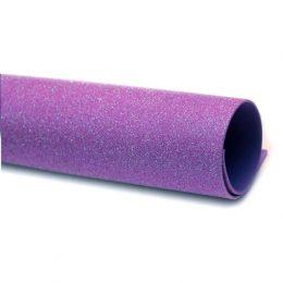 Фоамиран глиттерный перламутровый 20/30 см фиолетовый