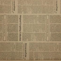 Бумага крафт (двухсторонняя) 74*52 см Газета