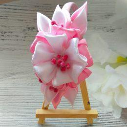 Ободок для волос Розовое сияние (ручная работа)
