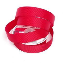 Репсовая лента 25 мм, цвет: тёмно-красный