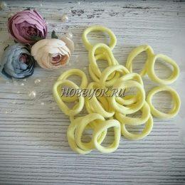 Резинки 40 мм бесшовные, цвет: лимонный