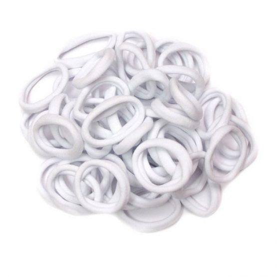 Резинки 40 мм бесшовные, цвет: белый