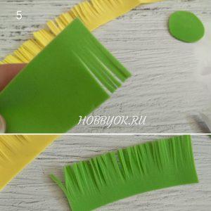 Зелёная бахрома из фома