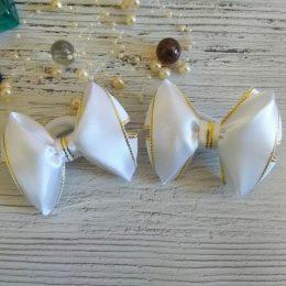 Бантики на резинках, цвет: белый