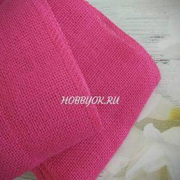 Лента джутовая 15 см, цвет: розовый