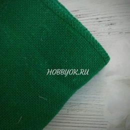Лента джутовая 15 см, цвет: зелёный