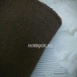 Лента джутовая 15 см, цвет: коричневый