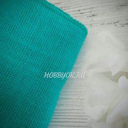 Лента джутовая 15 см, цвет: бирюзовый