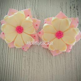 Банты Розовый цветок
