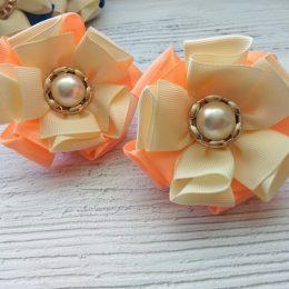 Банты на резинках, цвет: персиковый