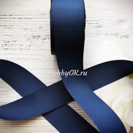 Репсовая лента в ассортименте, цвет: тёмно-синий