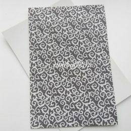 Фоамиран глиттерный Серебро с рисунком 2мм 20/30 см