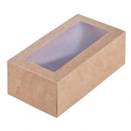Коробка крафт с окном 15*7,8*5,5см