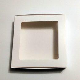 Коробка с прозрачной крышкой 160*160*30 мм цвет: белый