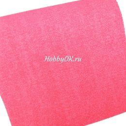 Махровый фоамиран 25*35 см, 2 мм, цвет красный