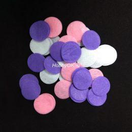 Фетровые круги 30 мм, цвет: микс 2 (20 шт)