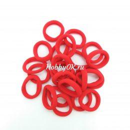 Резинки 30 мм бесшовные, цвет: красный, арт. 4912