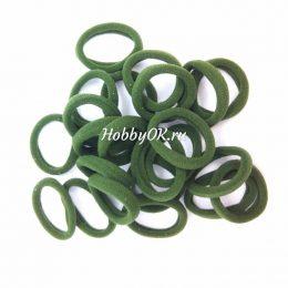 Резинки 30 мм бесшовные, цвет: темно-зеленый, арт. 5917
