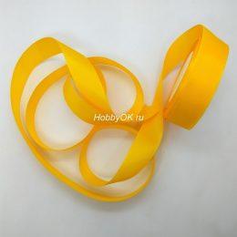 Репсовая лента 25 мм, цвет: насыщенный жёлтый арт. 4846
