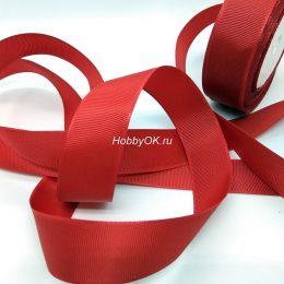 Репсовая лента 25 мм, цвет: бордовый, арт. 5509