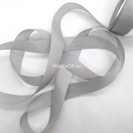 Репсовая лента 25 мм, цвет: серый, арт. 3223