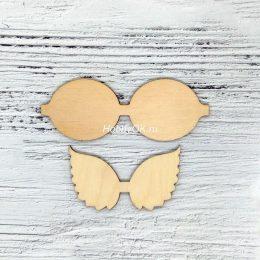 Шаблон для изготовления бантиков Крылья, арт. 456