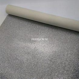 Искусственная кожа для рукоделия, цвет: серебро арт. 23-1-ИК-Х