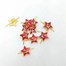 Красная звезда, металл 24 мм, арт.3410
