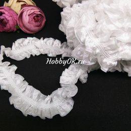 Эластичное кружево 25 мм, цвет: белый, арт.3350