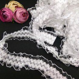 Декоративная резинка 20 мм, цвет: белый, арт.3541