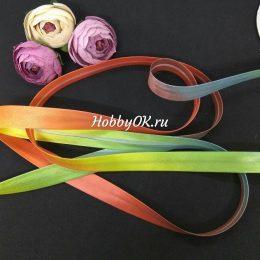 Косая бейка цвет: радуга, арт.5522