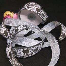 Репсовая лента УЧЕНИЦА 25 мм, цвет: серый арт. 4100-2
